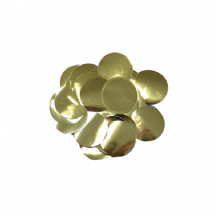 Metallic Gold Foil Confetti | 10mm Metallic Round | 50g Bag